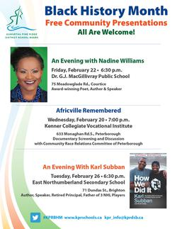 Join us at Africville Remembered, March 21